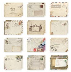 cutepaper, vintageenvelope, Paper, retroairmail