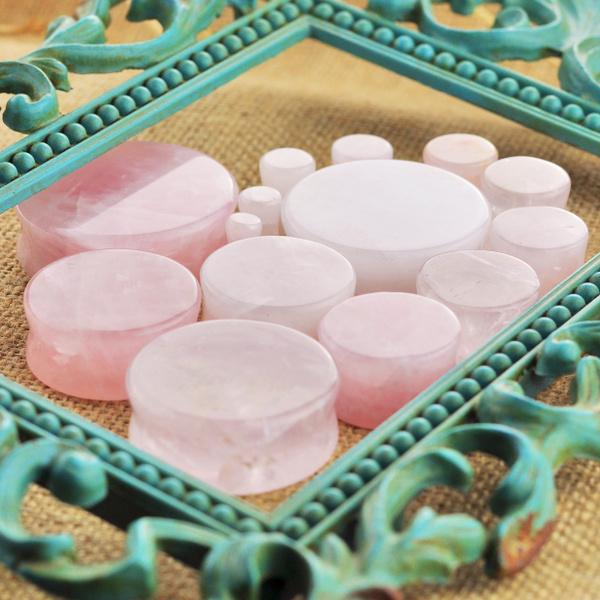 roseearring, quartz, Jewelry, earexpander