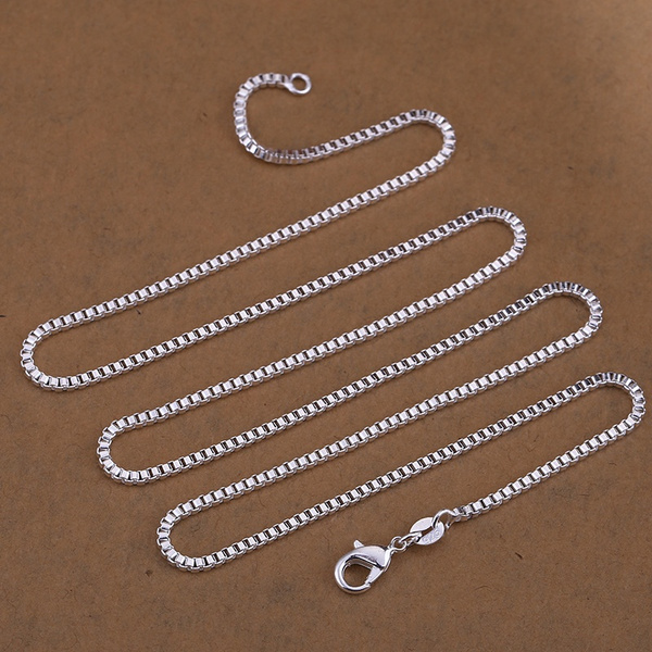 Sterling, Box, Chain Necklace, Italy