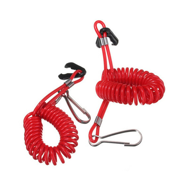 Boat Outboard Engine Cord Lanyard Kill Stop Switch Safety Tether For    R
