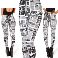Leggings, Fashion, newspaperprint, trouserspant
