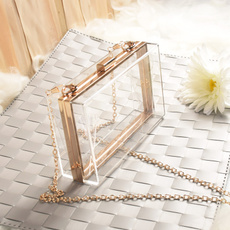 perspexclutchclear, Fashion, transparentenvelopeclutch, Shoulder Bags