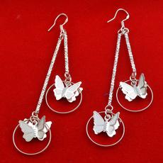 Sterling, butterfly, Dangle Earring, butterfly earrings