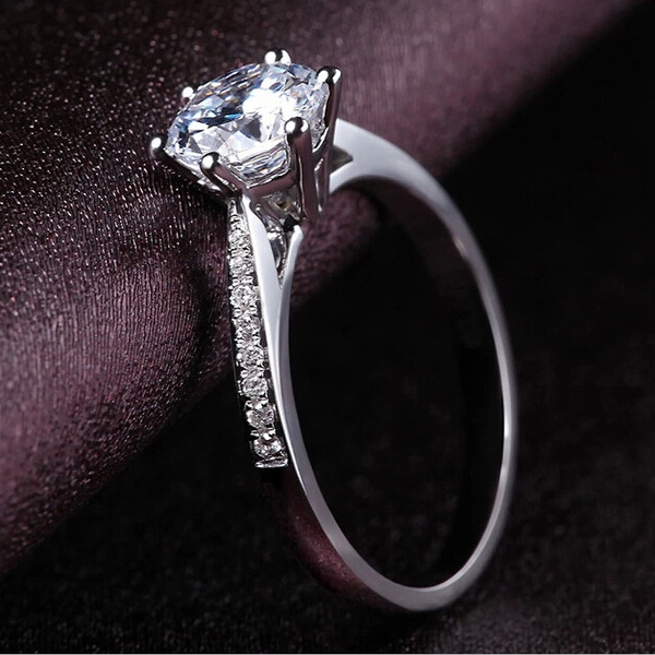 Sterling, crystal ring, Sterling Silver Ring, Engagement Ring