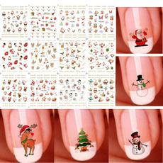 cute, nail decals, art, Christmas