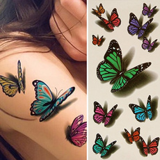 butterfly, tattoo, Fashion, art