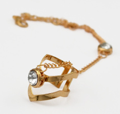 Charm Bracelet, gold, trendy bracelet, braceletwithring