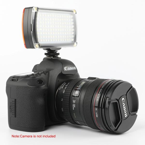 112 LED Video Light Mini Pocket Led Vlog Lighting on Camera for Canon Nikon Sony A6400 63000 Camcorder DSLR Camera Smartphone Vlogging