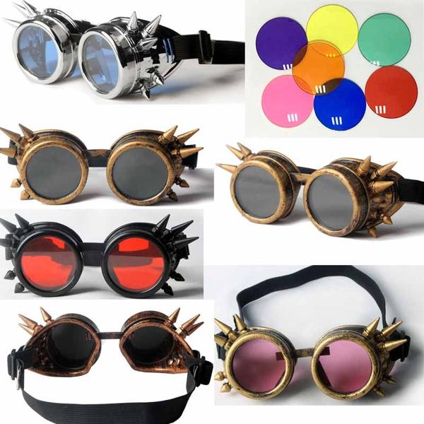 Helmet, Goth, Cosplay, Sunglasses