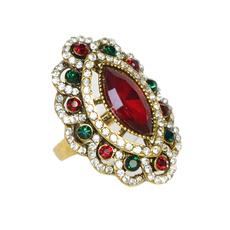 bohemianring, Ring Wrap, crystal ring, Colorful
