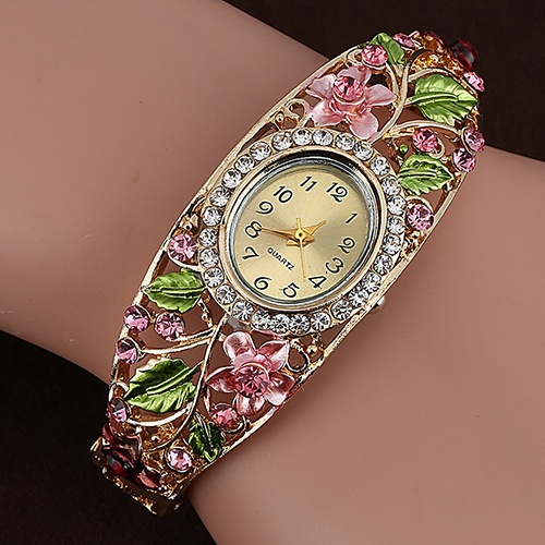 Flowers, dress watch, Jewelry, Beauty
