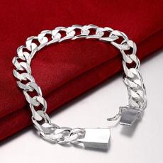 Sterling, Sideways, Jewelry, Bracelet Watch
