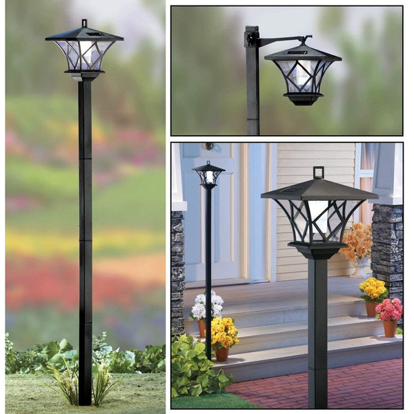patiolighting, led, solarlamppost, Home & Living