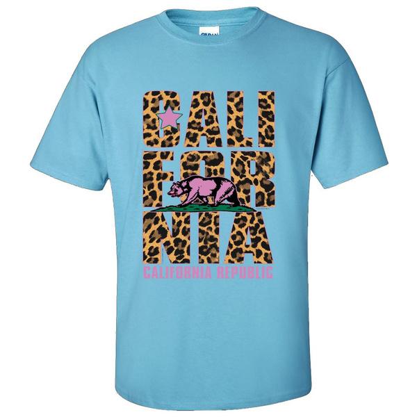 100cottonheatherandsafetycolorsare, designmayappearsmaller, leopard print, Leopard