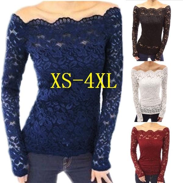 Fashion, Lace, Long Sleeve, slim