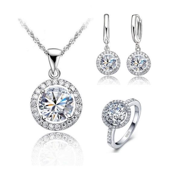 Sterling, platinum, Set, Jewelry