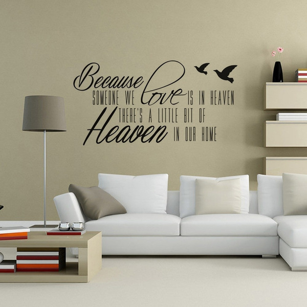 Because Someone We Love Is In Heaven Wall Art Religious Wall Sticker For Home Decor Wish