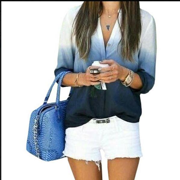 blouse, Tops & Blouses, gradient, Spring