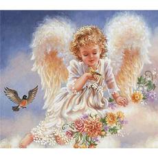 DIAMOND, fairy, Angel, needlework
