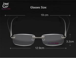 fashionablereadingglassesforwomen, aluminiummagnesiualloyglasse, rimlessreadingglasse, ultralightmalewomenreadingglasse