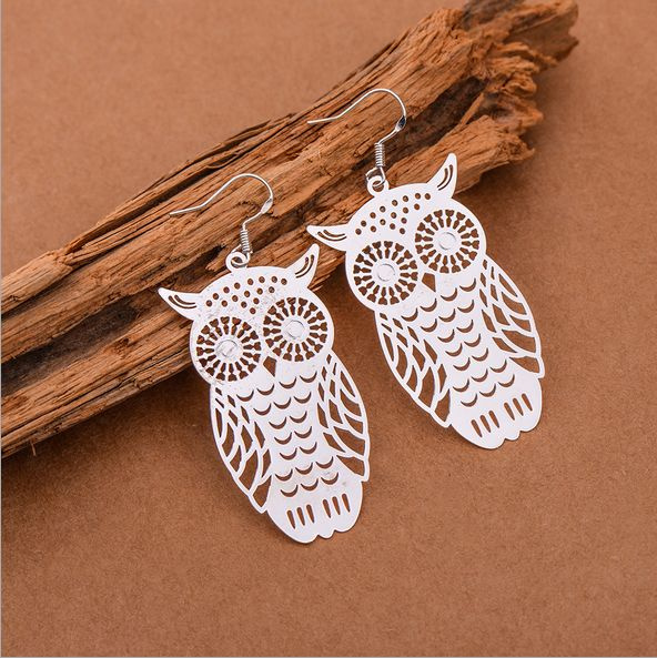 Sterling, Owl, Stud, Fashion