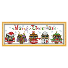 Decor, dmc, embroiderycraftshobby, fivechristmasowl