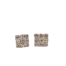 Stud Earring, Square, Jewelry, Crystal