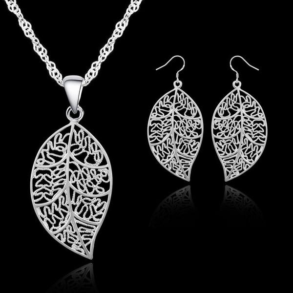 Sterling, Woman, leaf, Jewelry