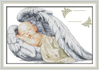 littleangelbirthcertificate, angel wings backpack, Decor, dmc