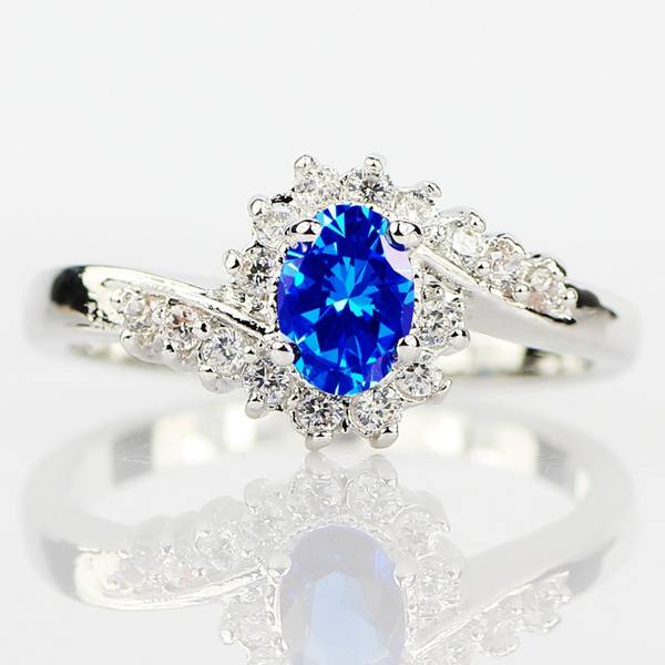 925 sterling silver sapphire rings