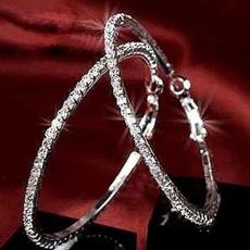 Cubic Zirconia, 925 sterling silver, Stud Earring, women earrings