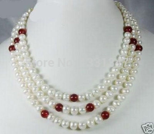 Fashion, Jewelry, pearls, 3rowsnecklace