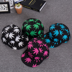 marijuanaleaf, Fashion, snapback cap, Sports & Outdoors