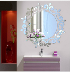 Heart, mirrorinwallsticker, mirroredwallsticker, Home Decor
