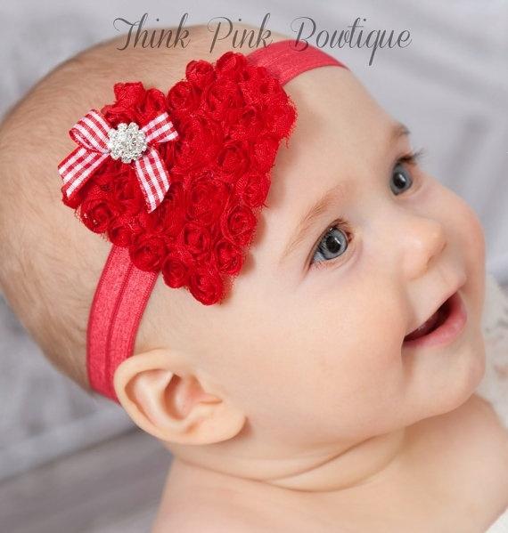 Valentine/'s Headband Baby/'s First Valentine/'s Headband Girl/'s Headband Newborn Headband Red Heart Headband Red Heart Headband