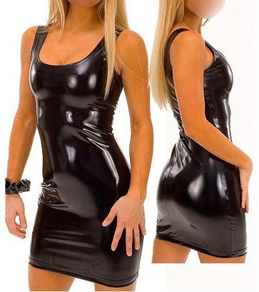 leather dress, imitationleather, Tank, sexynightclubdres