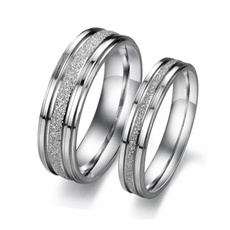 Couple Rings, Stainless, Engagement, wedding ring