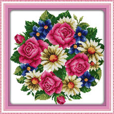 crossstitch, dmc, flowersblooming, Cross
