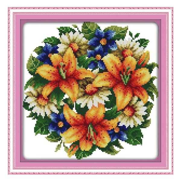 crossstitch, Flowers, Knitting, needleartscraft