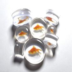 gaugeearring, earexpander, eargauge, goldfishearring