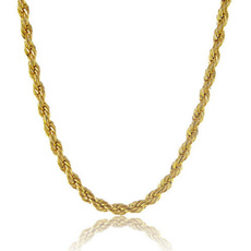 trendy necklace, yellow gold, Chain Necklace, Jewelry