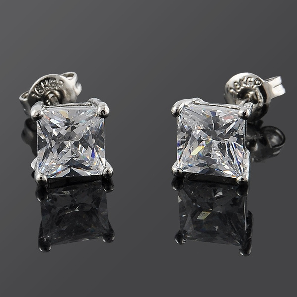 925 sterling silver, Jewelry, Stud Earring, coolsquaredecoration