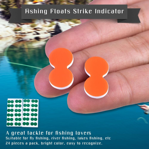 24x Pinch On Strike Indicator Stick on Float Outdoor Fly Fishing Tool Green