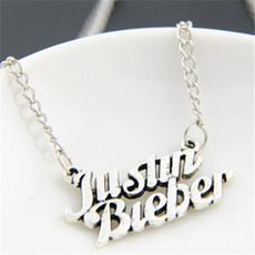 Chain Necklace, Jewelry, justinbiebernecklase, letternecklace