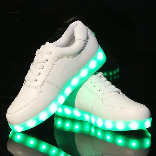 Girls Ladies Men Shoelaces Basket a LED