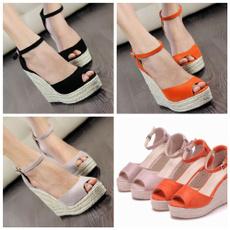 bohemia, platformwedgesshoe, plussizesandalsforwomen, Womens Shoes