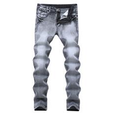Dark, trousers, pants, rippedjean