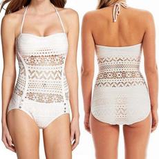Fashion, crochet bikini, onepiece, Swimwear