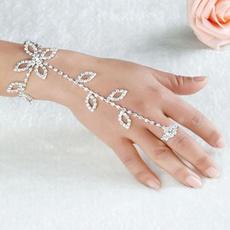 leaf, Pearl Bracelet, Chain, Bracelet
