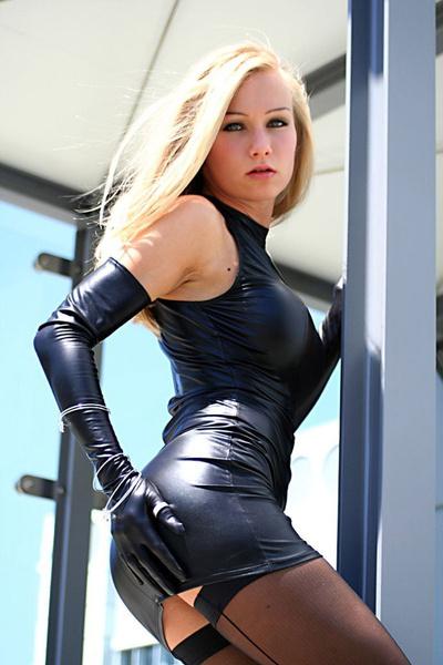 Mini, faux leather dress, Fashion, Cosplay